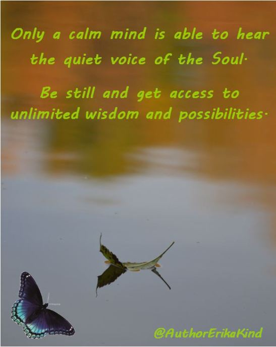 Only a calm mind is able to hear the voice of the Soul