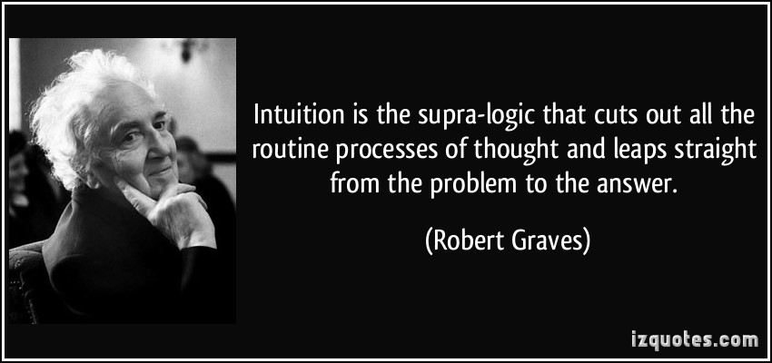 quote-intuition-is-the-supra-logic-that-cuts-out-all-the-routine-processes-of-thought-and-leaps-straight-robert-graves-328690