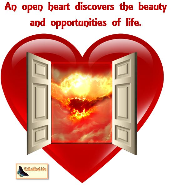 Open hearts see